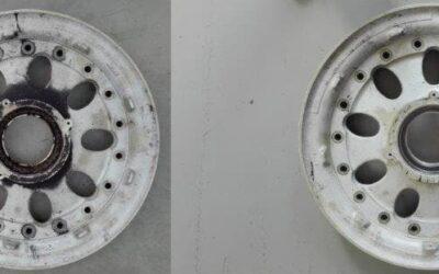 Pulizia cerchi in lega d'alluminio aeromobili