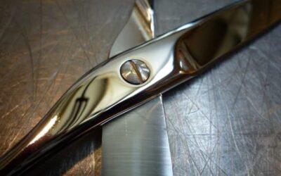 Rimozione paste di pulizia da forbici in acciaio inox